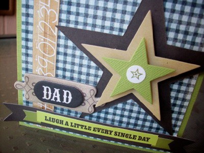 Dad's b-day card close up
